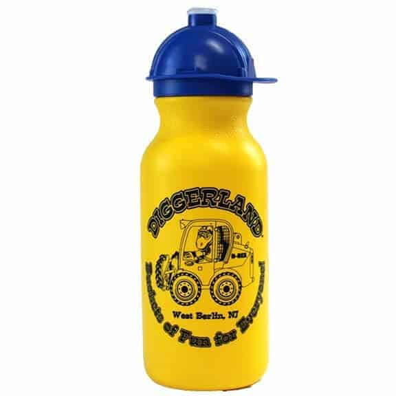 Diggerland yellow and blue water bottle