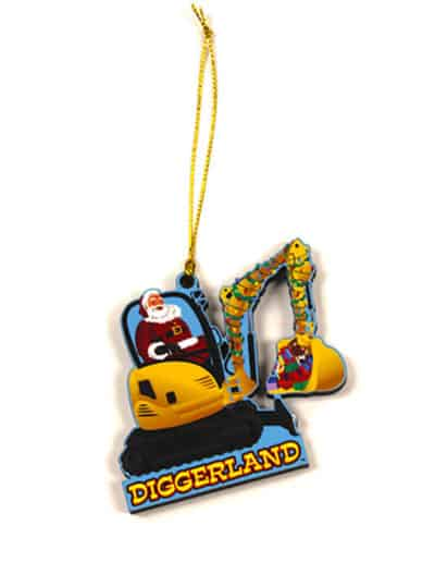 Diggerland holiday ornament front