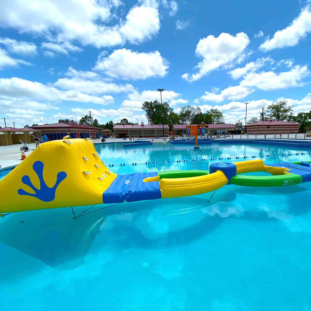The Wibit obstacle course in The Water Main pools