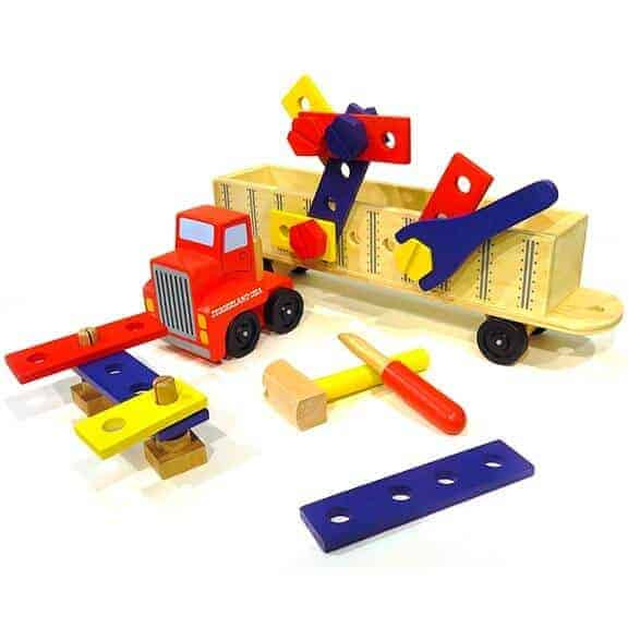 Diggerland truck with tools construction play set pieces