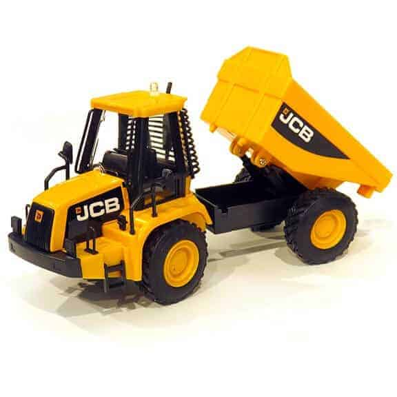 JCB dumper truck front with bucket up